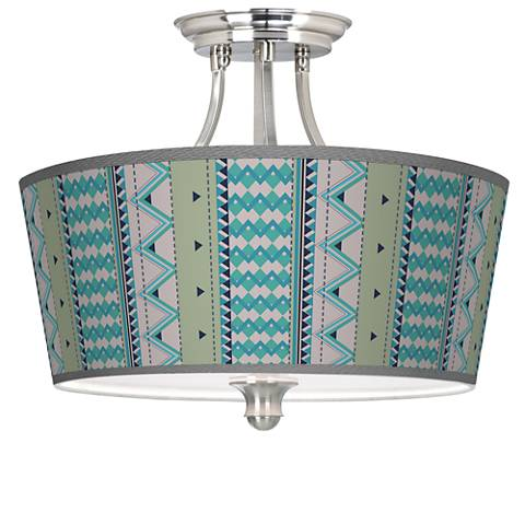 Geo Metrix Tapered Drum Giclee Ceiling Light