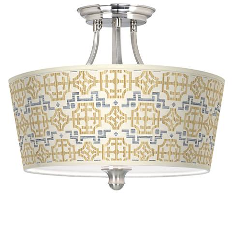 Willow Chinoiserie Tapered Drum Giclee Ceiling Light