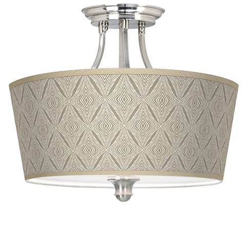 Moroccan Diamonds Tapered Drum Giclee Ceiling Light