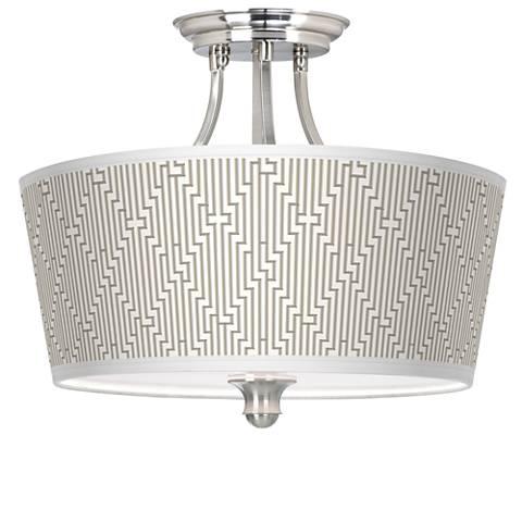 Diamond Maze Tapered Drum Giclee Ceiling Light