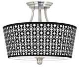 Matrix Tapered Drum Giclee Ceiling Light