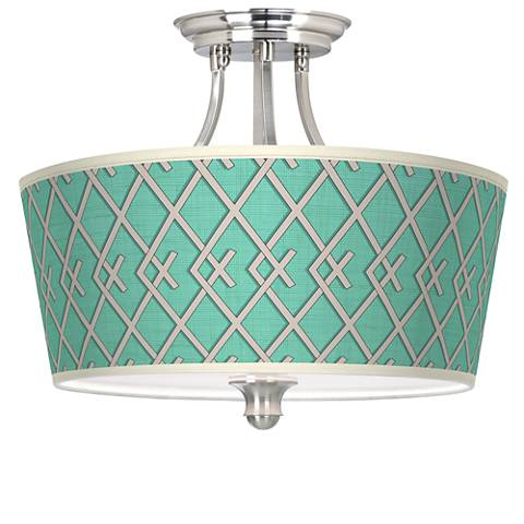 Crossings Tapered Drum Giclee Ceiling Light