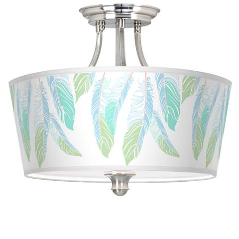 Light as a Feather Tapered Drum Giclee Ceiling Light