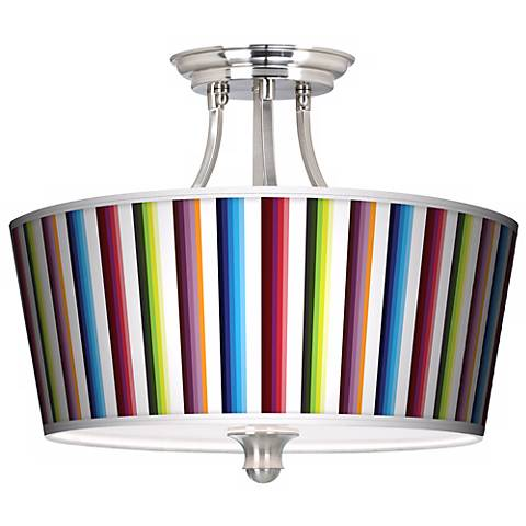 Technocolors Tapered Drum Giclee Ceiling Light