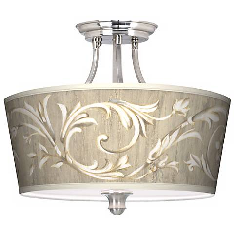 "Laurel Court Tapered Drum Shade 18"" Wide Ceiling Light"
