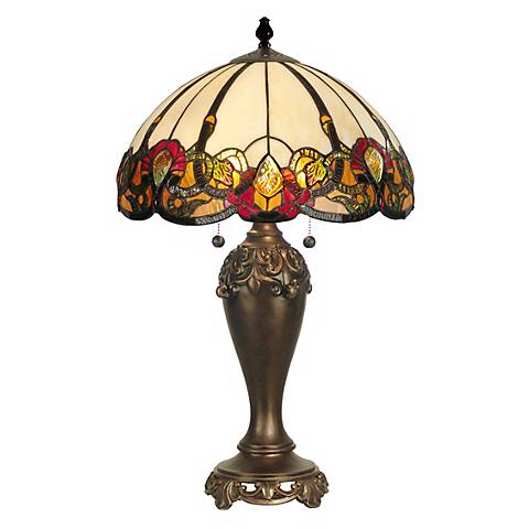 Dale Tiffany Northlake Art Glass Table Lamp