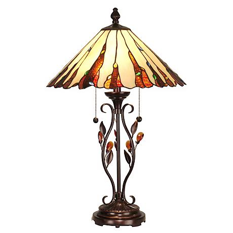 Dale Tiffany Ripley Art Glass Table Lamp