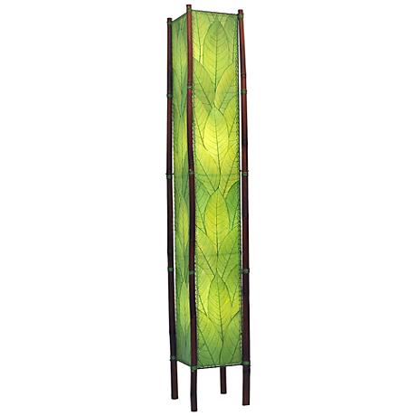 """Eangee Fortune Tower Green Cocoa Leaves 72"""" High Floor Lamp"""