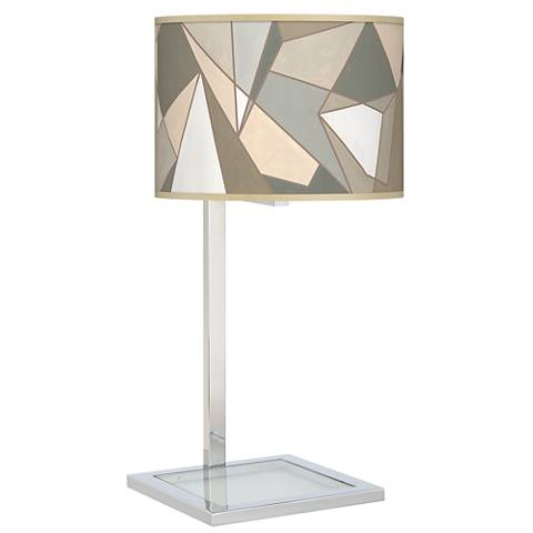 Modern Mosaic I Glass Inset Table Lamp