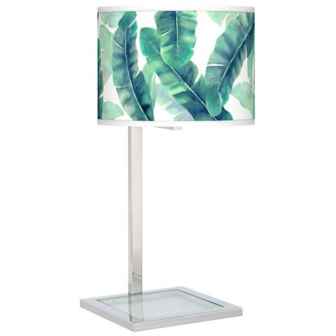 Guinea Glass Inset Table Lamp