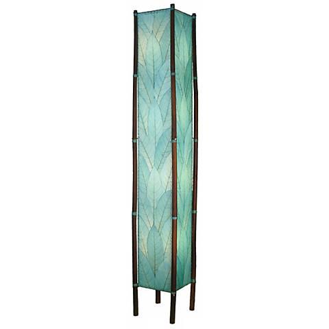Eangee Fortune Tower Seablue Cocoa Leaf Shade Floor Lamp