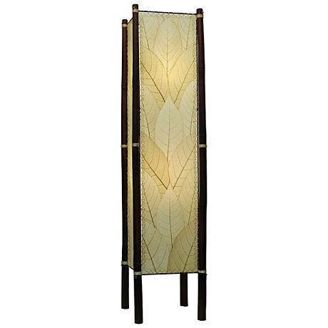 Eangee Fortune Natural Cocoa Leaves Tower Floor Lamp