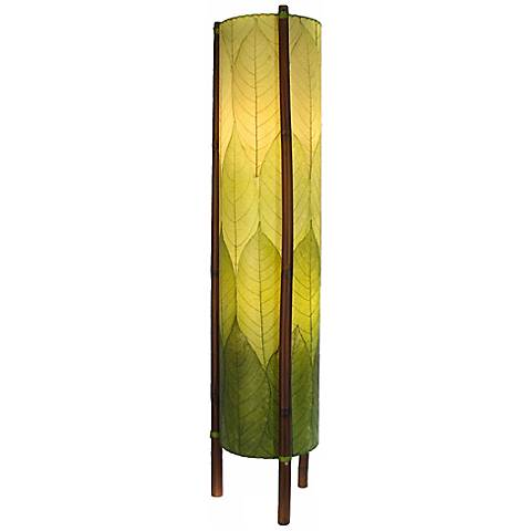 Eangee Hue Series Green Cocoa Leaves Tower Floor Lamp