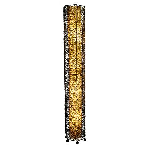 Eangee Giant Tower Durian Shade Nito Vines Floor Lamp