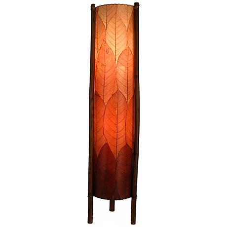 Eangee Hue Series Burgundy Cocoa Leaves Tower Floor Lamp