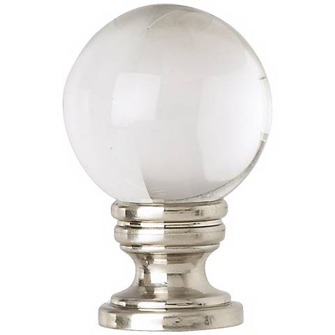 Brushed Nickel Crystal Ball Finial
