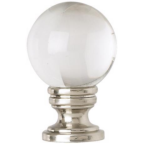 Brushed Nickel Crystal Ball Finial