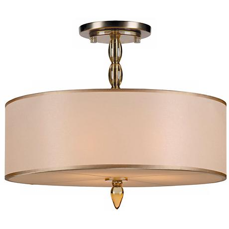 "Crystorama Luxo Brass 18"" Wide Ceiling Light"