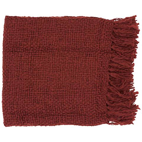 Tobias Collection Brick Red Throw