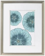 "Blue Flower Trio Giclee Print 21 1/2"" High Wall Art"
