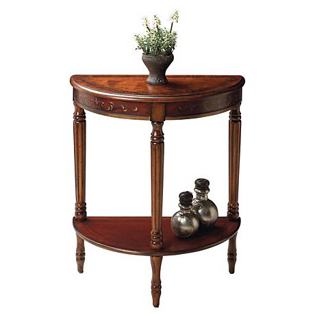 Artists Originals Collection Cherry Demilune Console Table