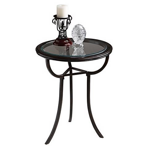 Loft Collection Beveled Glass Top Accent Table