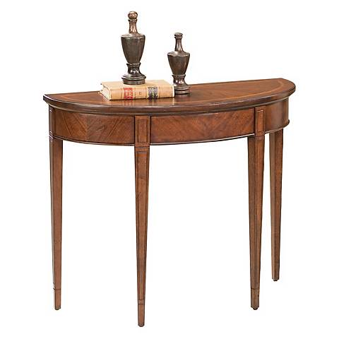 Plantation Cherry Demilune Console Table - #M4011 | Lamps Plus