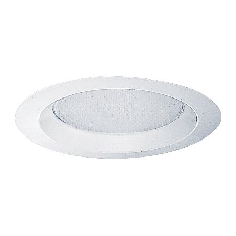"""Juno 6"""" Opal Shower Trim with White Reflector"""