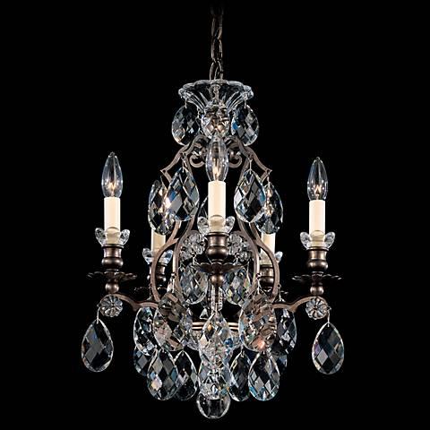 "Schonbek Renaissance 14 1/2"" Wide Gold Crystal Chandelier"