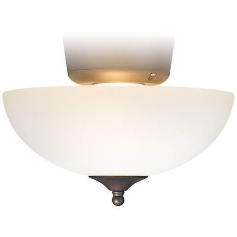 White Glass Oil Rubbed Bronze Ceiling Fan Light Kit