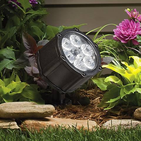 """Kichler Landscape Black 3 1/2"""" High LED Wide Floodlight"""