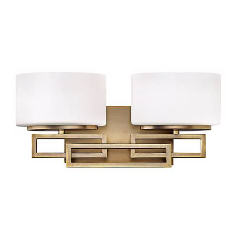 "Hinkley Lanza Bronze 16 1/2"" Wide Bathroom Wall Light"