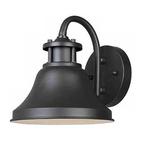 "Bayport Collection Dark Sky 7 3/4"" High Outdoor Wall Light"