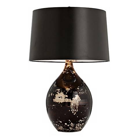 arteriors home flynn mercury black reactive glass table On black glass table lamp