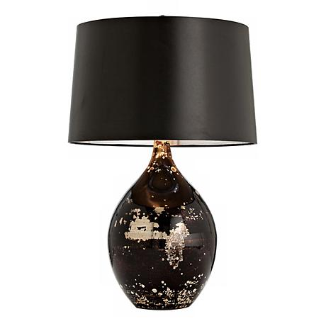 Flynn Mercury Black Reactive Glass Table Lamp M6075