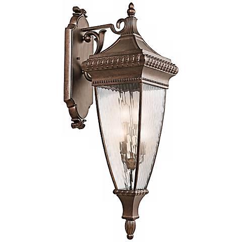 """Venetian Rain Bronze 37"""" High Outdoor Wall Light"""