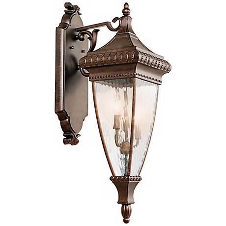 """Venetian Rain Bronze 31"""" High Outdoor Wall Light"""