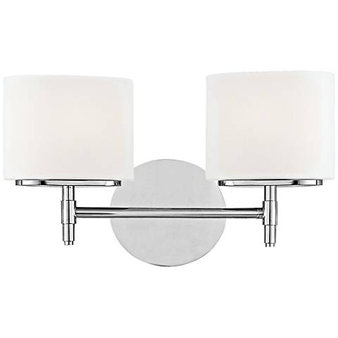 "Hudson Valley Trinity 2-Light 13 3/4""W Chrome Bath Light"