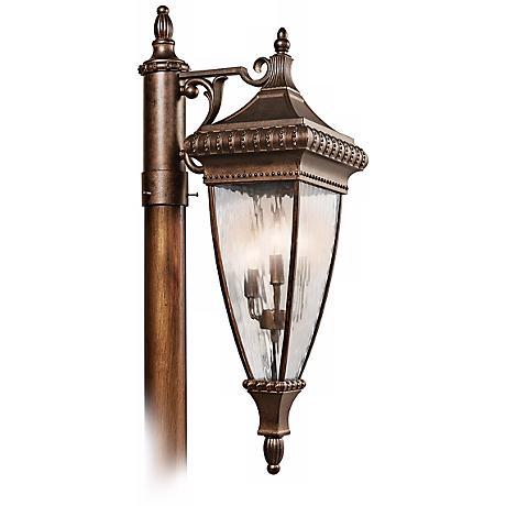 "Venetian Rain Bronze 32 1/2"" High Outdoor Post Light"