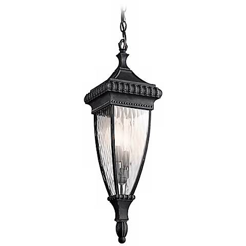 "Venetian Rain Black 25"" High Outdoor Hanging Light"
