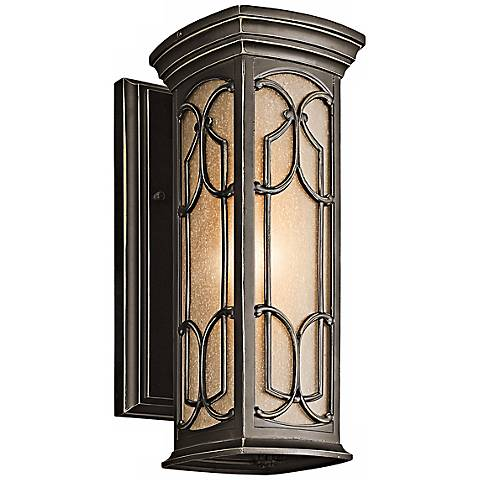 "Kichler Franceasi Bronze 14 1/2"" High Outdoor Wall Light"