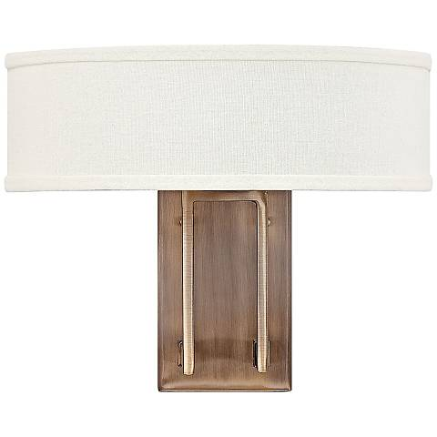 "Hinkley Hampton 12"" High Brushed Bronze Wall Sconce"