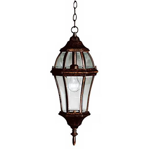 """Townhouse Tannery Bronze 24 1/2"""" High Outdoor Hanging Light"""