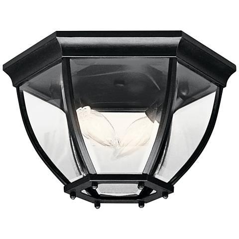 """Townhouse Black 12"""" Wide Indoor - Outdoor Ceiling Light"""