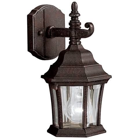 "Townhouse Tannery Bronze 12"" High Outdoor Wall Light"