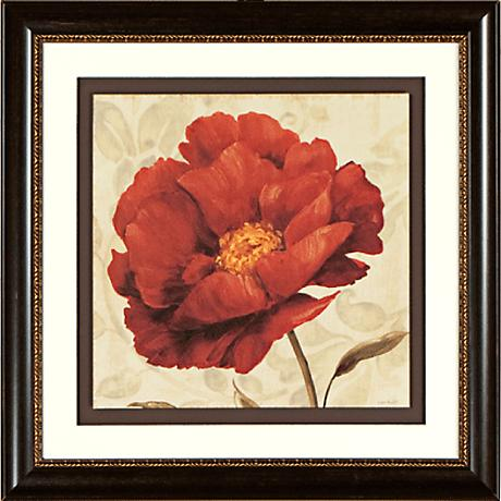 """Floral Romance I 19 1/4"""" Square Framed Wall Art"""
