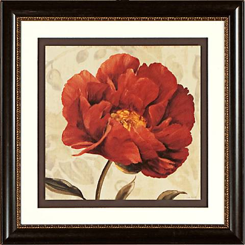 "Floral Romance II 19 1/4"" Square Framed Wall Art"