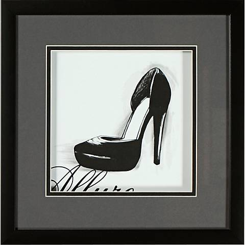 "Classic Stiletto I 14"" Square Framed Wall Art"