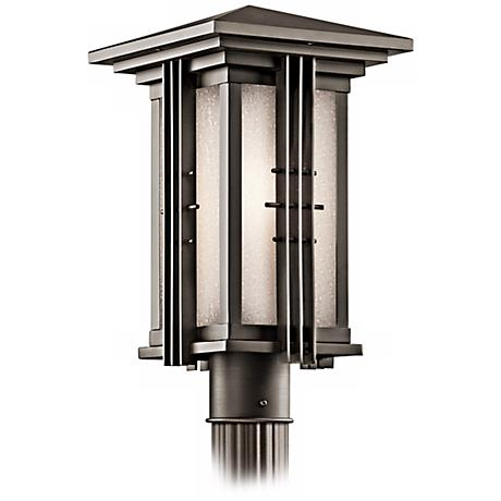 "Portman Square Bronze 16 1/2"" High Outdoor Post Light"