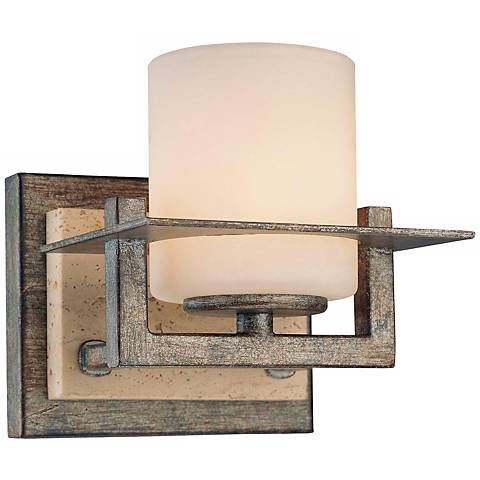 "Compositions Collection 5 1/4"" High Iron Wall Sconce"